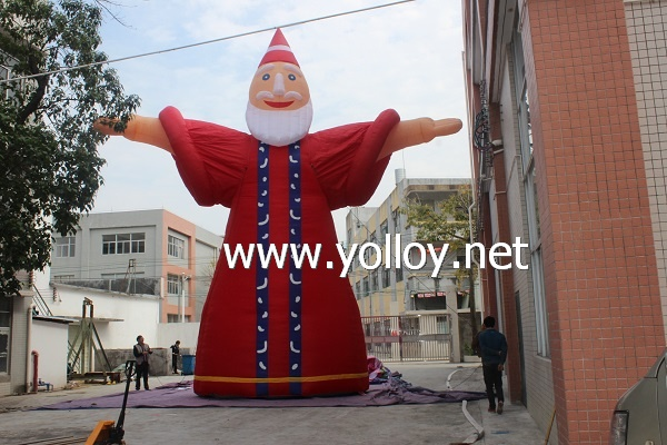 New Customized Inflatable Father Christmas for Decoration