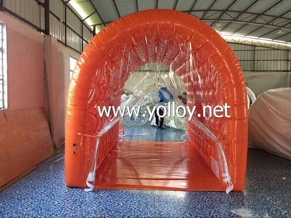Mini inflatable camp tent for family