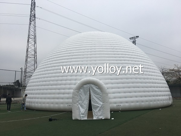 20m Diameter Airtight Inflatable dome tent