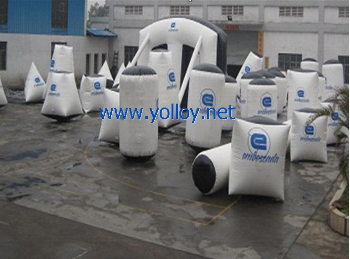 44 air inflatable bunkers for paintball war
