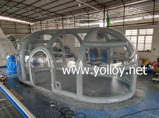 Airtight clear inflatable bubble tent