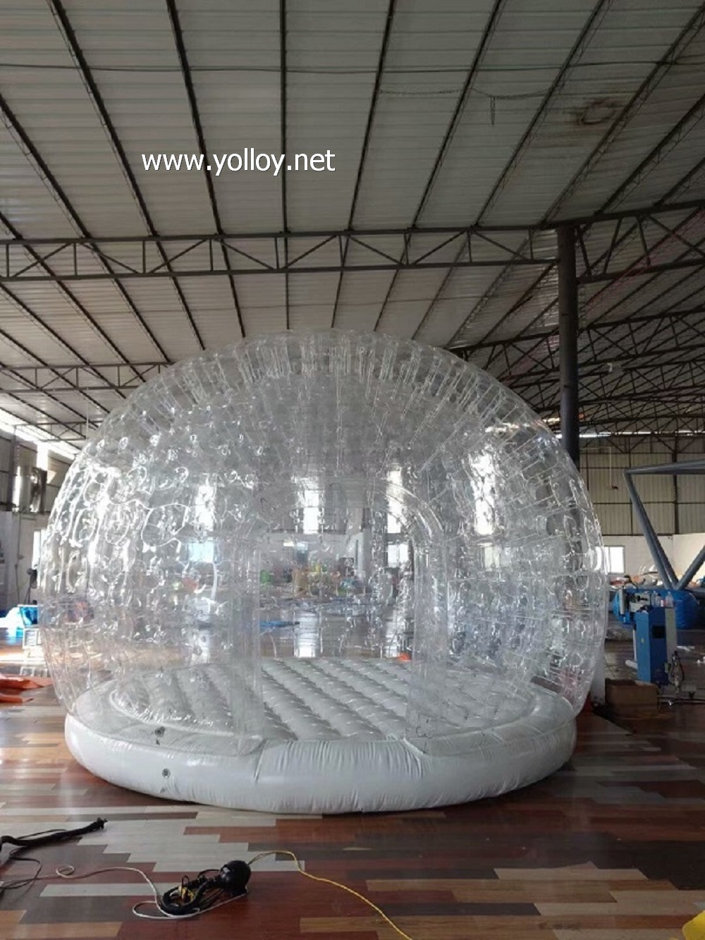 Big air shelter inflatable clear dome with air mattress