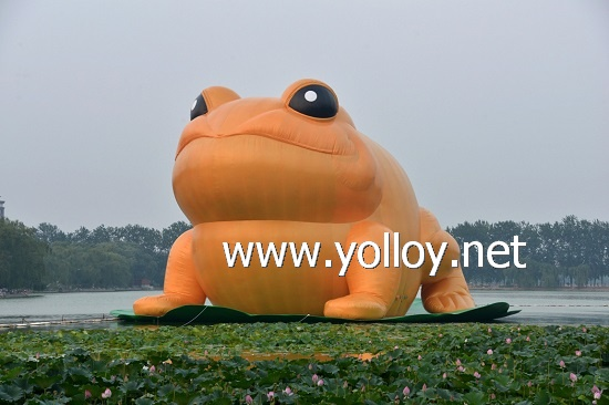 Giant inflatable golden toad