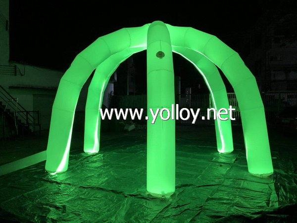 Inflatable dome archway shape inflatable decoration with LED light