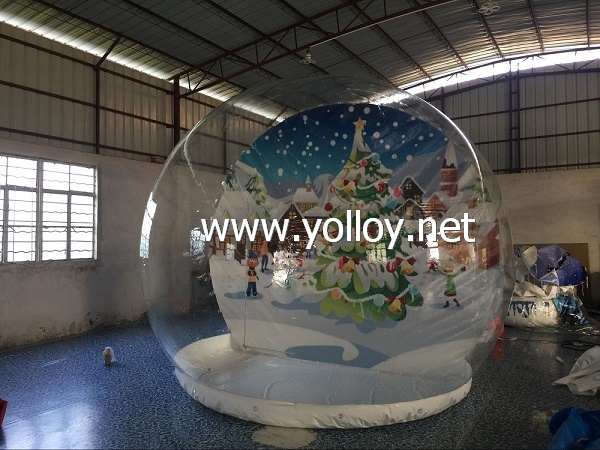 Inflatable Christmas Decoration Giant Halloween Snow Globe
