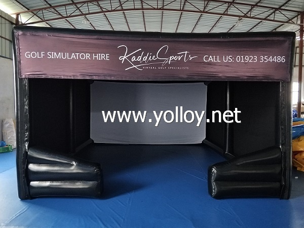 Customized Inflatable Golf Simulator Room
