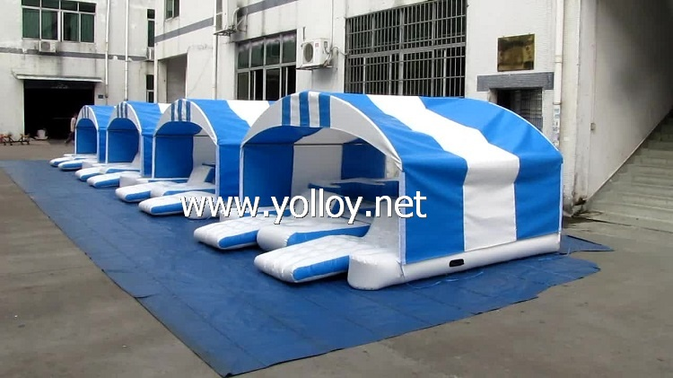 6 person Inflatable Floating Water Island With Shade