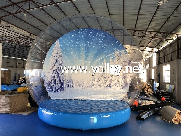 Giant inflatable christmas snow globe
