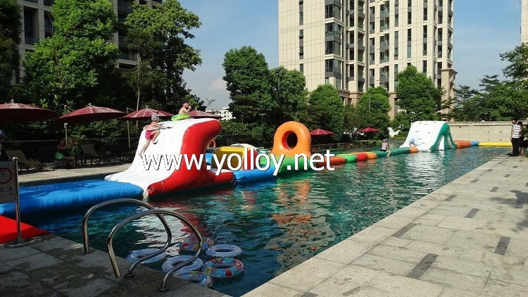 Inflatable Water Obstacle Course for swimming Pool