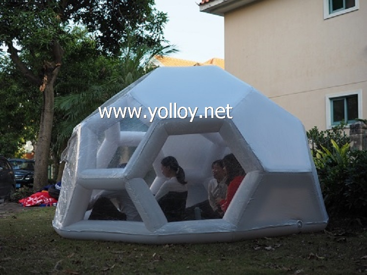 Starry night inflatable bubble tent