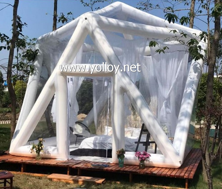 Outdoor Inflatable Camping Dome Bubble Starry Night Tent