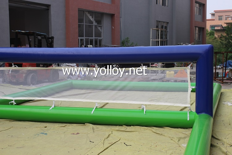 Outdoor floating court inflatable volleyball field inflatable water