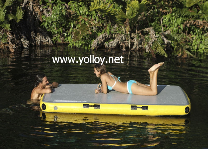 Air blow up floating deck inflatable dock