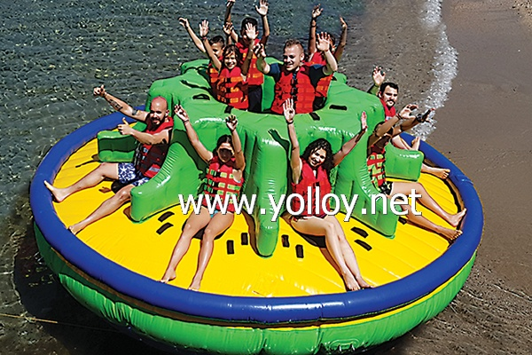 Inflatable towable Twister boat