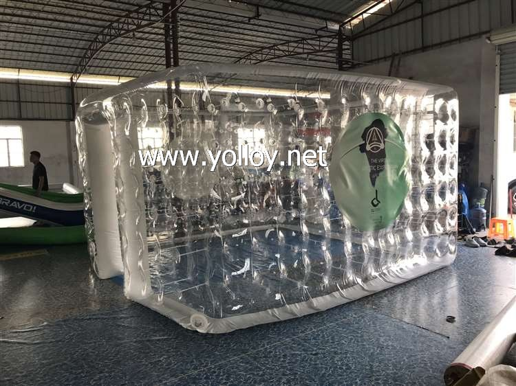Inflatable Clear Cube Booth For exhibition
