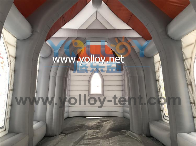 Air blow-up church tent mobile inflatable church