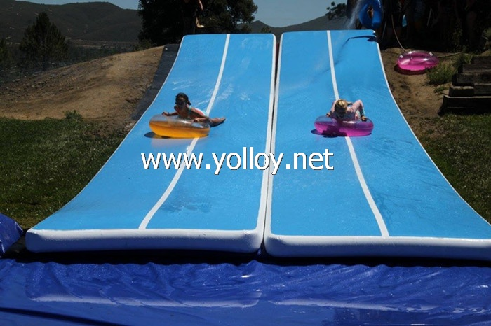 Inflatable city water Slip & Slide gymnastics mat