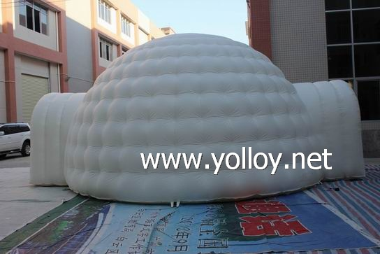 Outdoor instant inflatable party shelter igloo tent