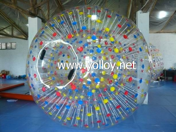 lighting inflatable zorb rolling ball on grass
