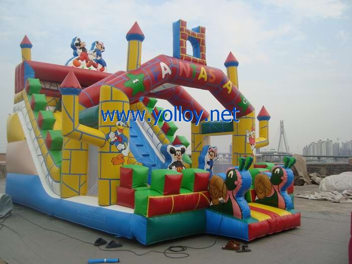 Mickey and Minnie fantastic inflatable slide