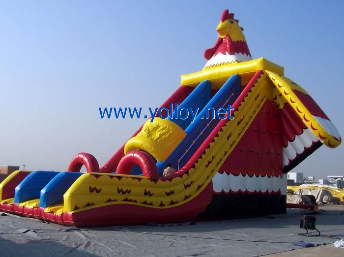 Big Rooster Inflatable Slide for event party