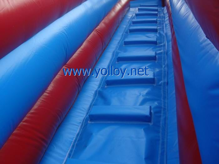Large blue and red America inflatable slide