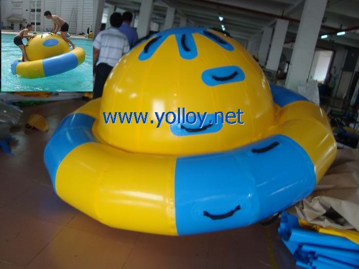 aviva Saturn inflatable pool rocker water game