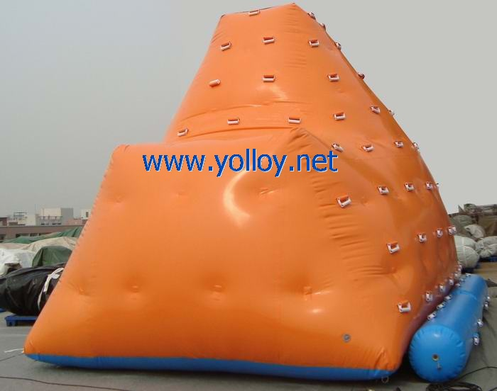 Inflatable climbing floating iceberg for Water Park