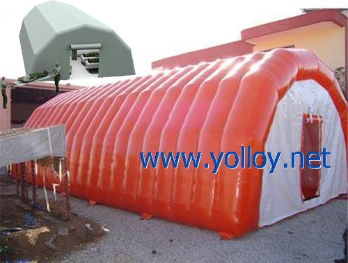 Durable portable inflatable medical tent for emergency