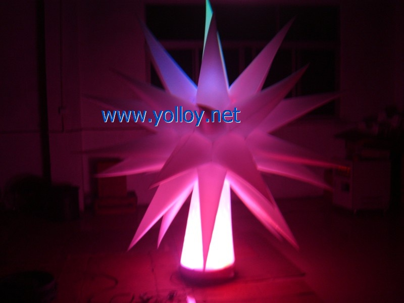 lighting change inflatable star for event party