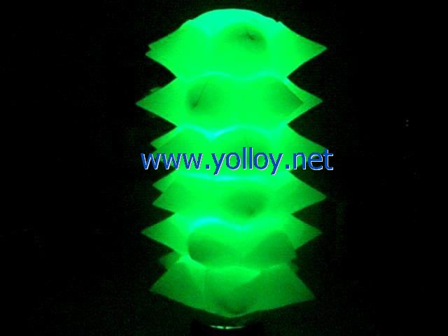 8ft tall inflatable spiked tower lighting