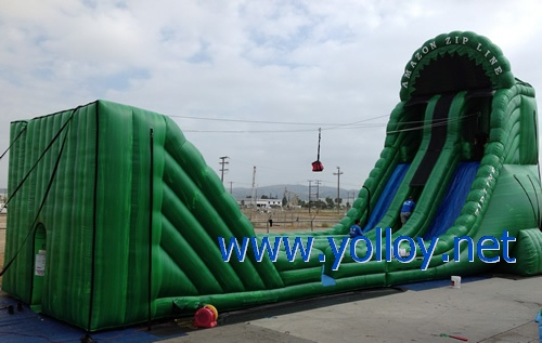 amazon zip line inflatable for kids party business rental