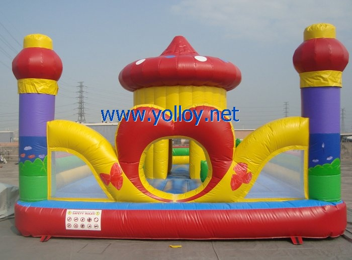 Heart shape inflatable party bouncy castle house