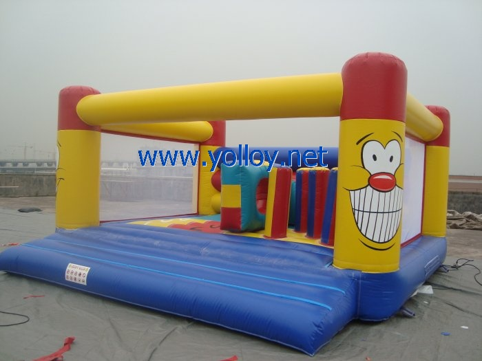 Bounce around Backyard inflatable Castle jump for fun