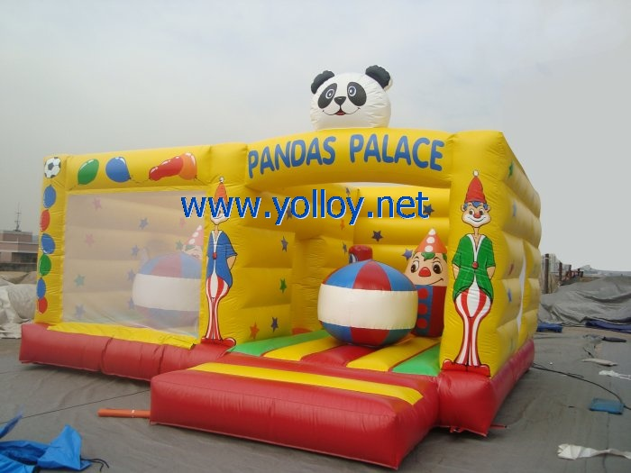 Panda inflatable jump castle bouncy game for rentals