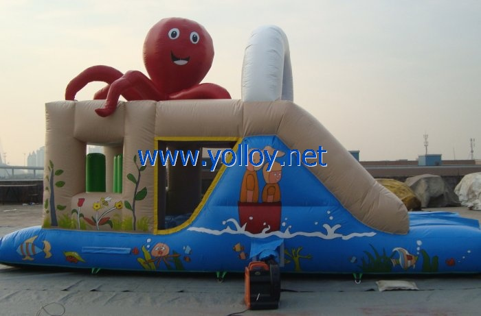 Giant octopus inflatable bouncy bounce castles