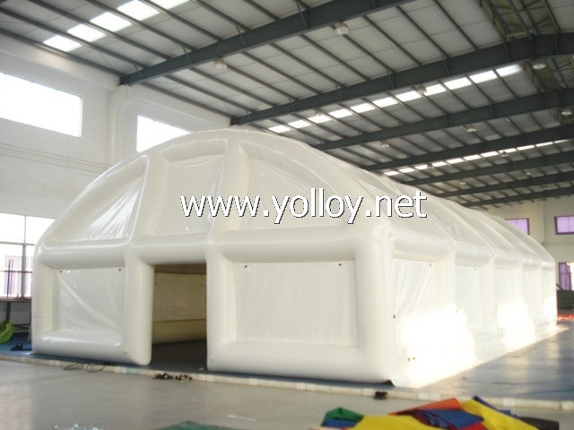 Airtight inflatable white PVC tent