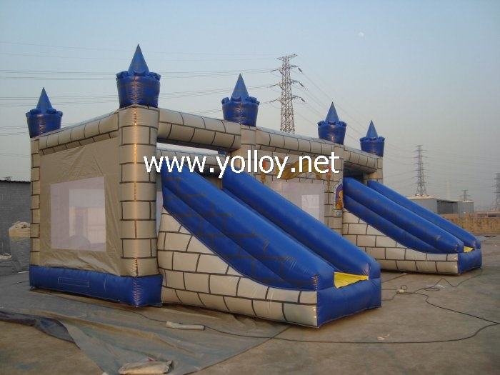 big bouncy castle inflatable with dual slide