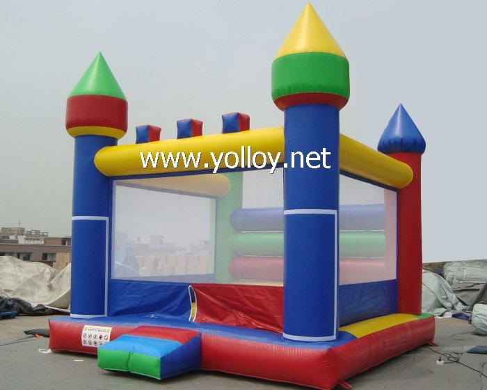Inflatable Rainbow castle bounce house jump for fun