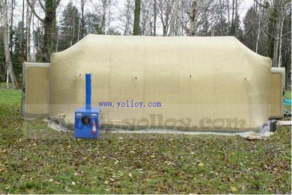 cold resistant inflatable air tight tent work in cold weather
