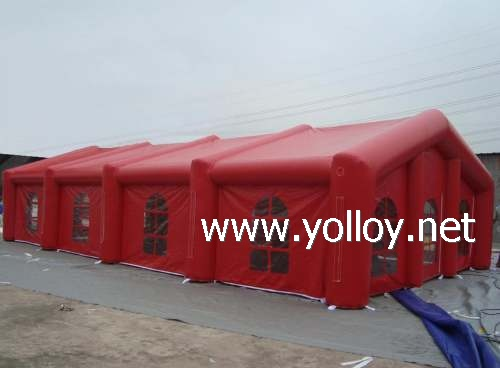 Red inflatable marquee party tent