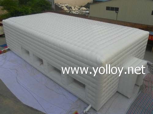 white inflatable building