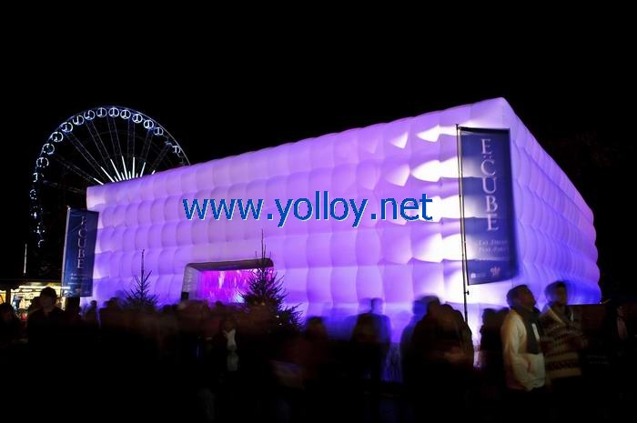 Yolloy inflatable concert hall made with blow up cubic for Inflatable concert hall