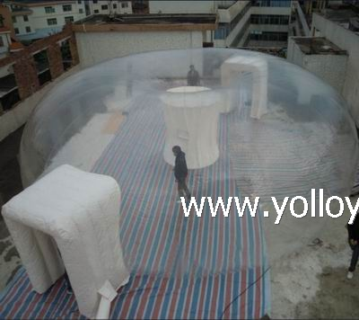 Transparent outdoor inflatable bubble ten