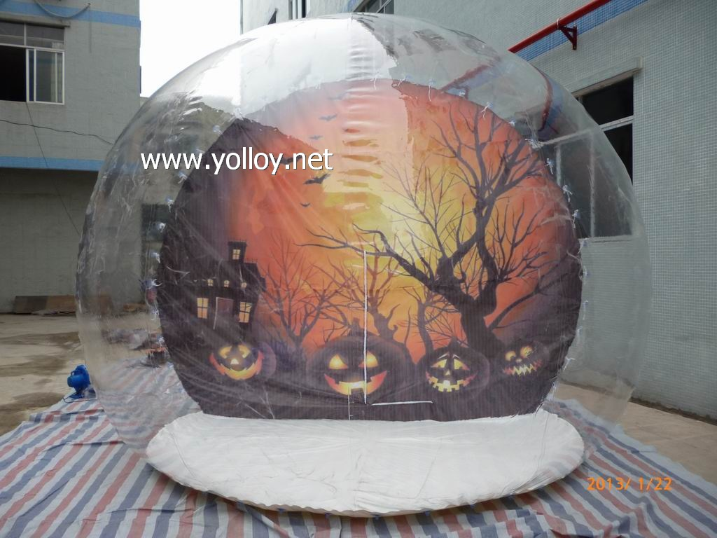 transparent inflatable snow globe tent