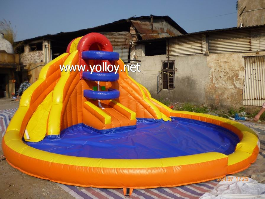Small Double inflatable water slide