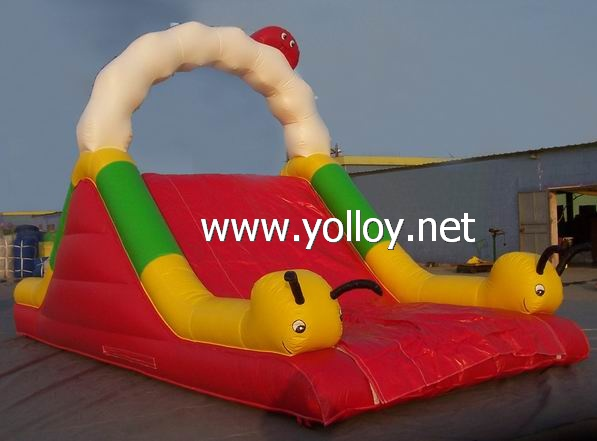 Caterpillar inflatable slide with climbing for kids