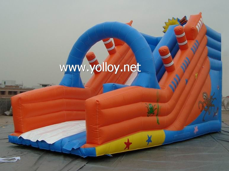 backyard inflatable slides for children