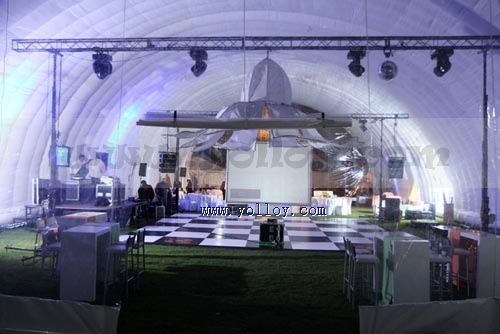 large inflatable light tent