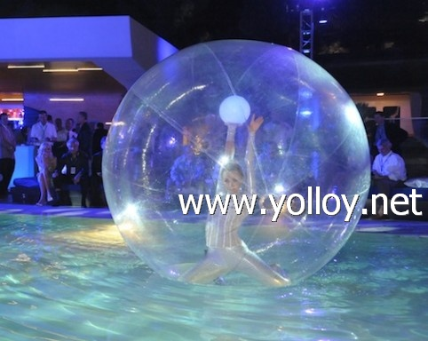 clear inflatable dancer bubble ball